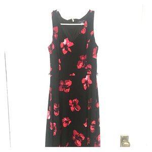 Tommy Hilfiger classic floral dress red and black